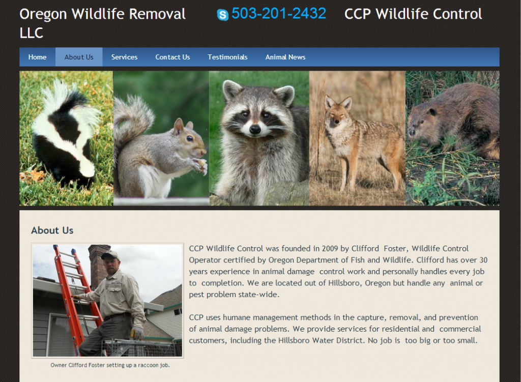 Portland Oregon Wildlife Removal